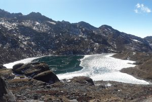 Bhairab Kunda near Gosainkunda lake