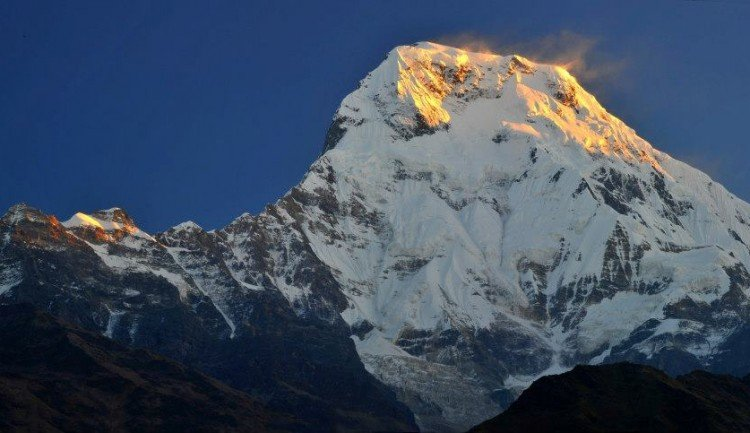awesome Annapurna south view from Tadapani