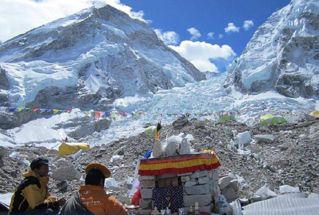 Khumbu Ice fall Everest Base Camp near khumbu glacier