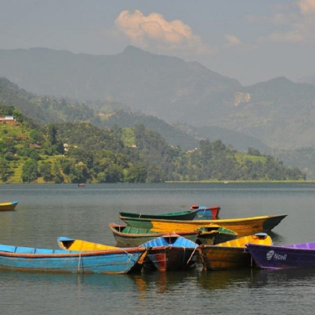 Pokhara tour boating at phewa lake