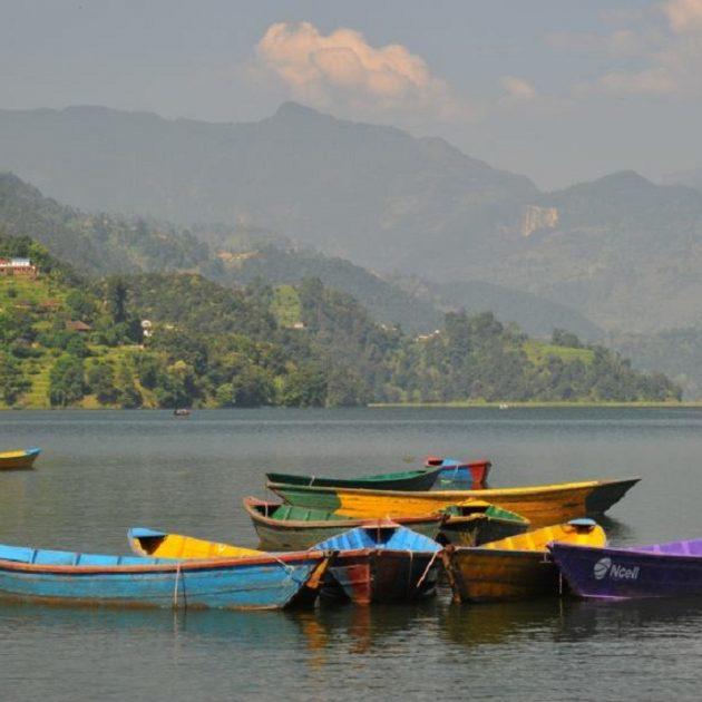 Pokhara tour boating at phewa lake