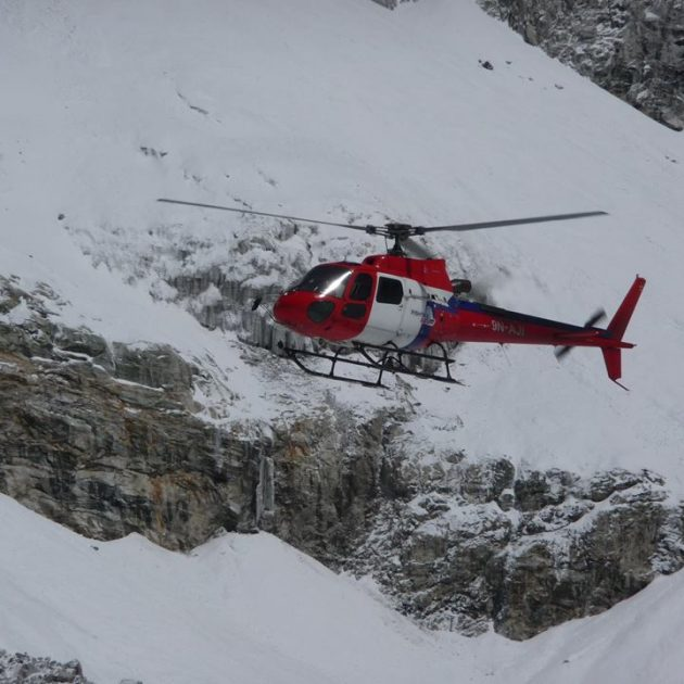 Manaslu helicopter tour in nepal