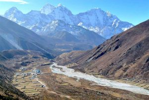 gorgeous mountain view from Pheriche Everest