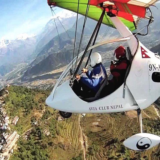 Ultra-Light Flight in Pokhara