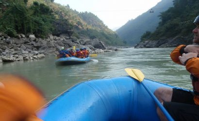Rafting over Trishuli River