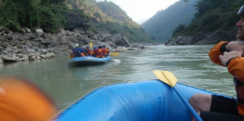 Rafting over Trishuli River