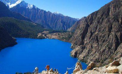 Upper Dolpo Trekking Phaksundo lake view image
