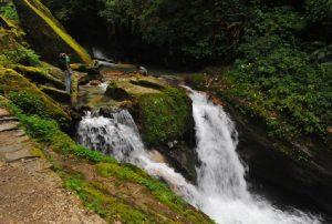 beautiful water fall on ghorepani trek