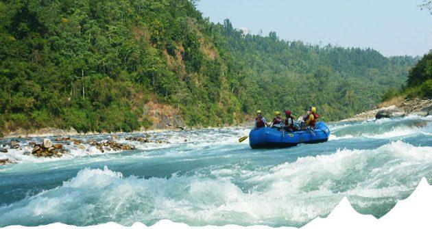 Rafting over Marsyangdi river