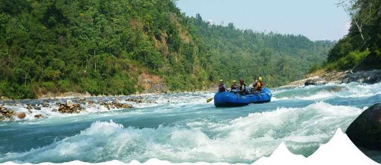 Rafting over Marsyangdi river