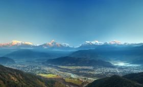 Annapurna Himalaya Range view from Sarangkot Pokhara Beautiful Places to Visit in Pokhara