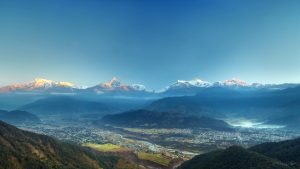 Annapurna Himalaya Range view from Sarangkot Pokhara