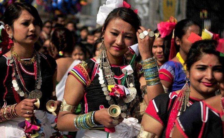 Tharu culture in sauraha tharu dance
