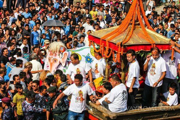 Celebrating Indra jatra Festival