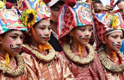 gai jatra festival in Nepal image picture