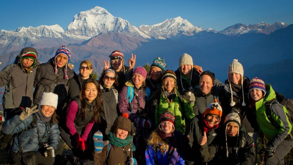Group photo of SAT SAT Best Trustworthy Reliable Trekking Company in Nepal