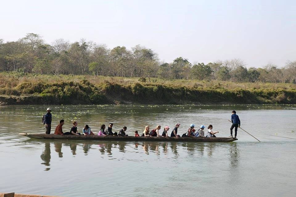 Canoe in Chitwan National park Sauraha