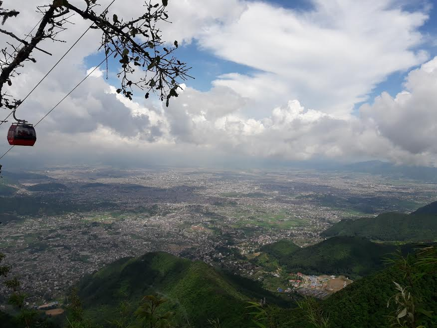 Grand view of Kathmandu valley during Chandragiri hill hiking
