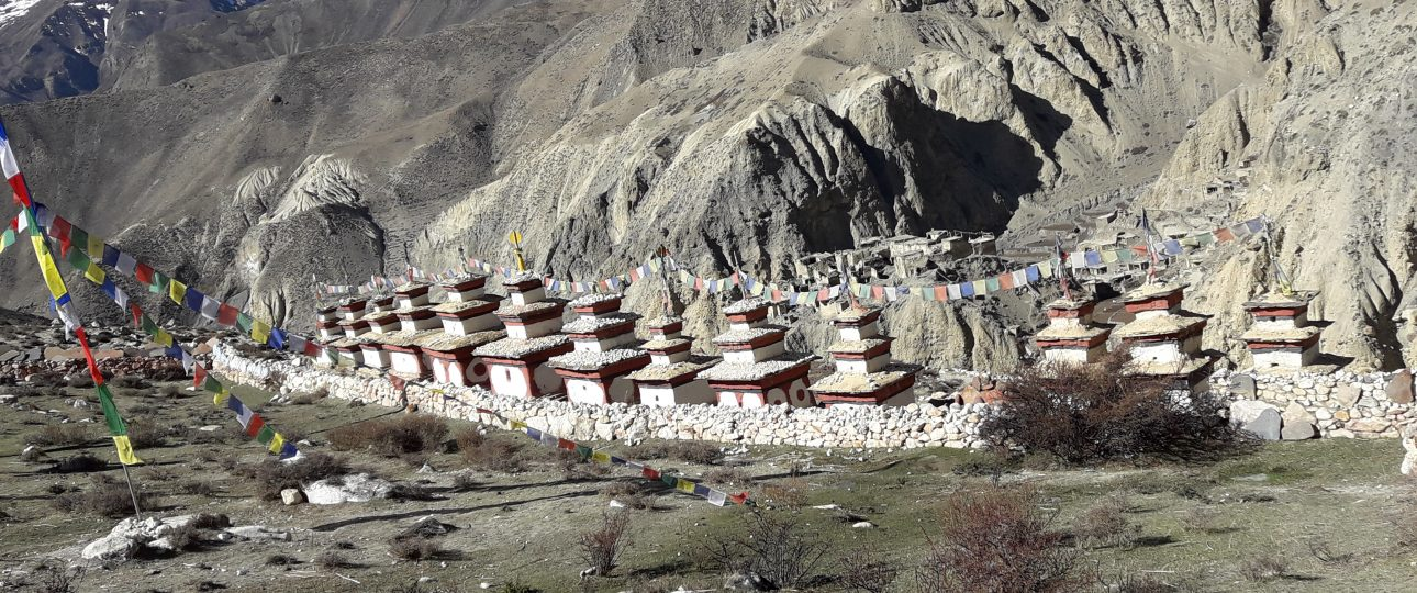 Nar Phu valley trek Monasteries and Chhorden at Narphu valley trekking Manaslu region Nepal