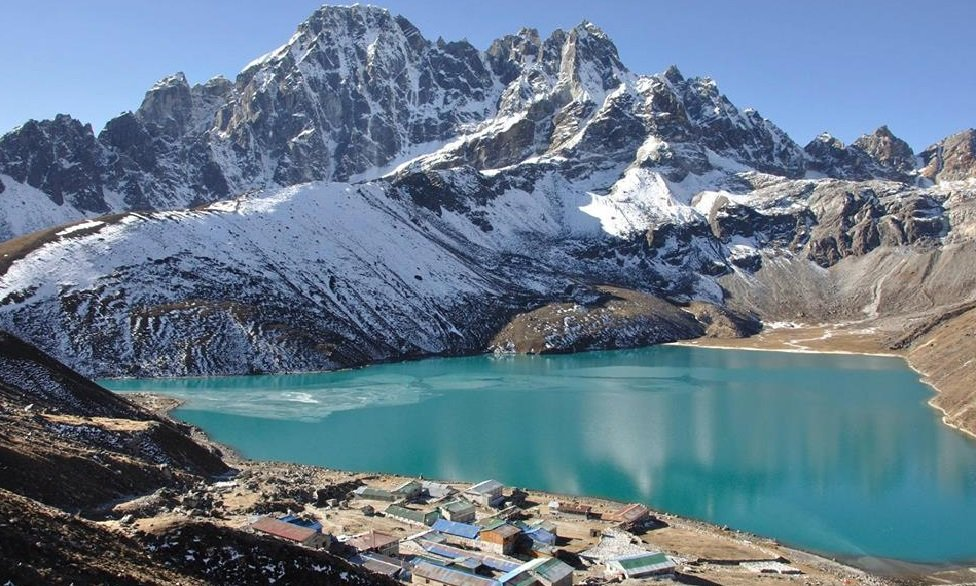 Gokyo Lakes are oligotrophic lakes in Nepal