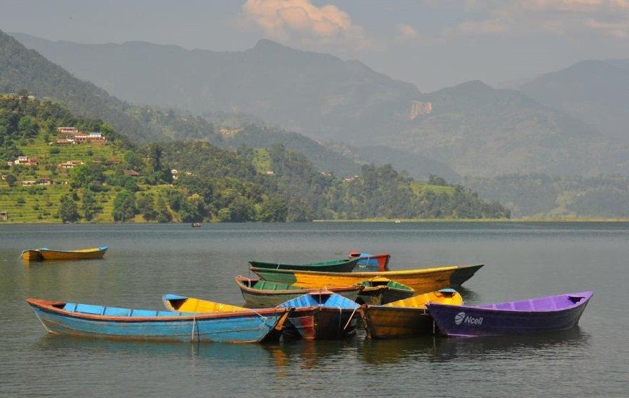 Boating at Phewa lake Phewa lake second biggest lake of Nepal