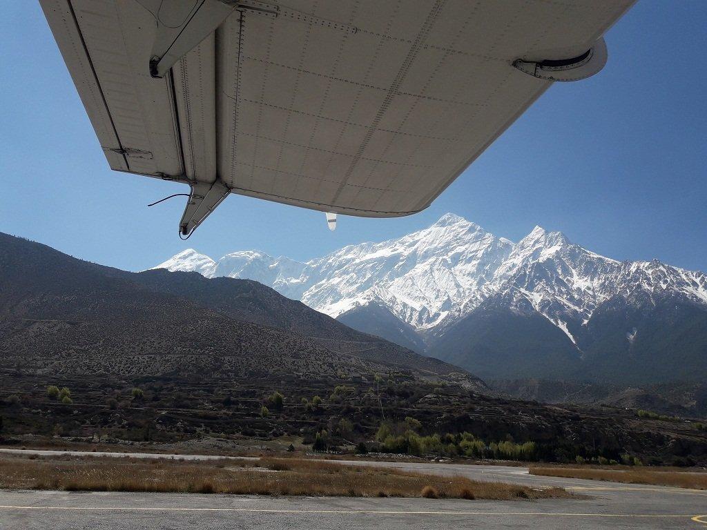 Pokhara Jomsom flight view sceneries of pokhara jomsom flight