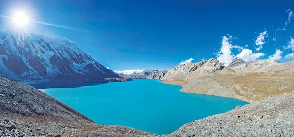 Tilicho lake world's highest place lake in Nepal
