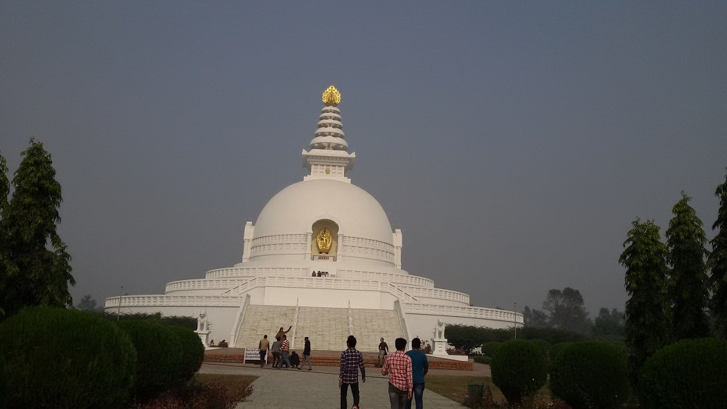 World Peace Pagoda is one of the major attractions of Lumbini