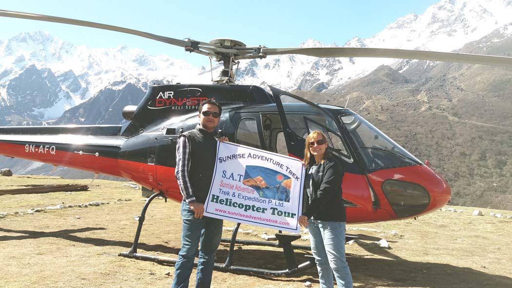Langtang Helicopter tour, Heli tour to Langtang , Heli tour to Gosaikunda lake